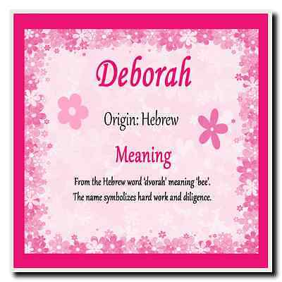 Deborah Personalised Name Meaning Coaster