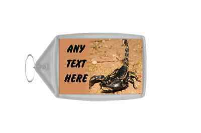 Scorpion Personalised Keyring