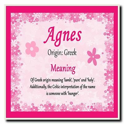 Agnes Personalised Name Meaning Coaster