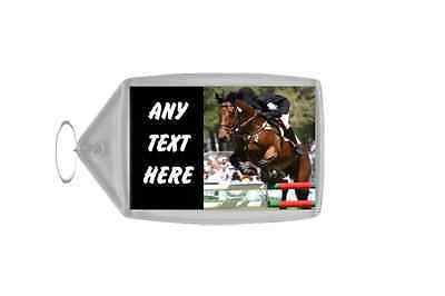 Show jumping Horse Personalised Keyring