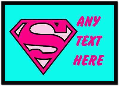 Superwoman Personalised Dinner Table Placemat