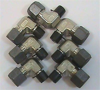 "7 each Parker 8-4-CBZ-SS CPI male elbow 316SS 1/2"" tube fitting x 1/4"" MNPT NOS"