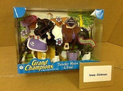 Grand Champions Tender Mare & Foal Clydesdale Horse Play Set 50124 New