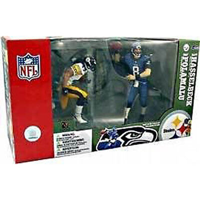 """NFL - Polamalu & Hasselbeck 6"""" Championship Game Action Figure 2-Pack #NEW"""