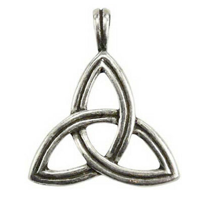 "Triquetra Celtic Trinity Infinity Knot Irish Pagan Goddess 1"" Necklace Pendant"