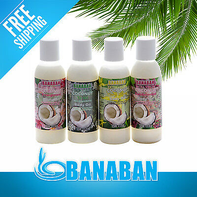 BANABAN MIXED Scented Coconut Body Oils 4 x 125ml variants FREE SHIPPING