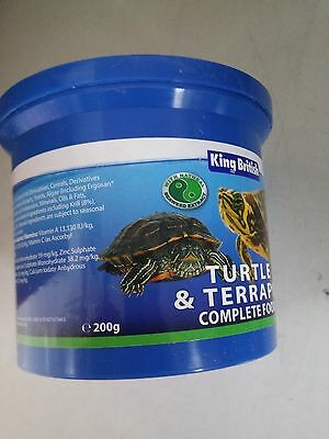 3x King British Turtle Food 200g - Posted Today if Paid Before 1pm