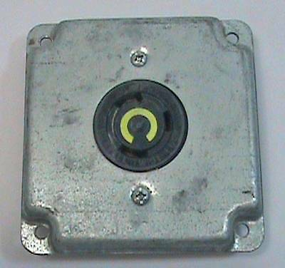 Hubbell Twist Lock 30A. 125V.3 Yellow Receptacle and Plate Cover NOS