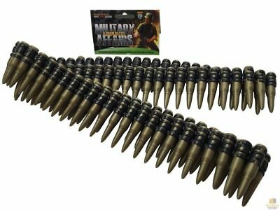 BULLET BELT Plastic Bandolier Costume Party Commando Army Gangster Soldier Ammo