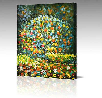 """Large 16"""" GUSTAV KLIMT Apple Tree In Blossom Abstract Canvas Wall Art Picture"""
