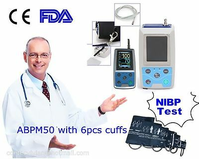 24Hrs Ambulatory Digital Blood Pressure Monitor ABPM50 CE FDA + One set of Cuffs