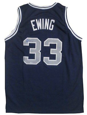 Patrick Ewing Autographed Georgetown Basketball Signed Jersey Steiner Sports COA