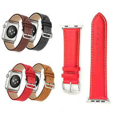New Genuine Leather Strap Wrist Band For Apple Watch iWatch Series 3 2 1