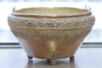 Antique 999 Fine Silver Repoussed Elephant Wine Cistern