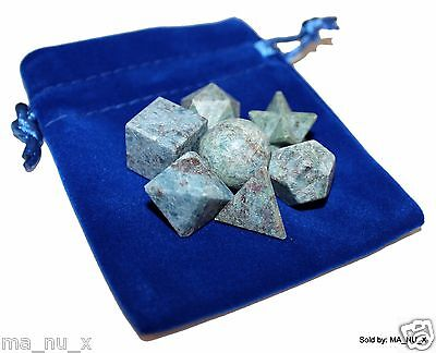 Ruby in Blue Kyanite Sacred Geometry 7 Piece Set with Merkaba Star
