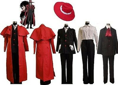 Hellsing Alucard Cosplay Costume Set Vampire Hunter