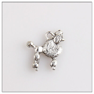 40 Poodle Tibetan Silver Charms Pendants Jewelry Making Findings 9F7C1F