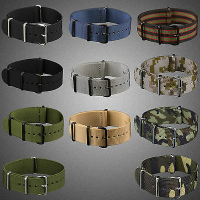 INFANTRY Army Strong Fabric Nylon Canvas Watch Strap Band Replacement 22/24mm