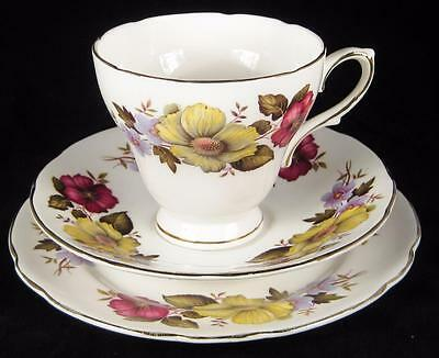 Royal Sutherland Yellow Flowers Fine Bone China Cup/Saucer/Plate (2 available)