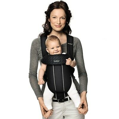 BabyBjorn Baby Carrier Original in City Black, Infant Sling Wrap with Support