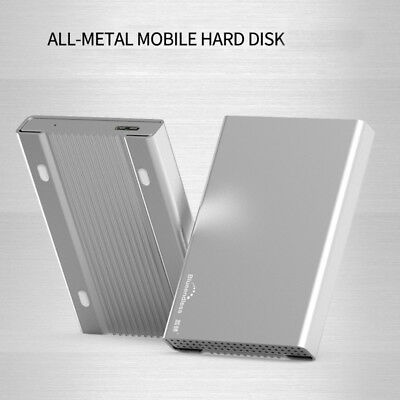 NEW 500GB USB 3.0 Portable 2.5 inch External Hard Disk Drive All Metal Silver