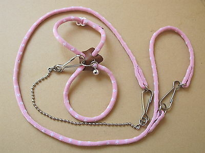 Hamster Harness - Pink Or Blue - No Packaging - New - Small Animal - Fun - Game