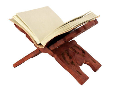 Wooden Floral Carved Book Holder Display Stand Religious Readings Cookbook Desk