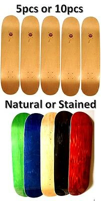 """Lot 5 or 10 Skateboard Deck 7.75"""" 8"""" 8.25"""" Natural or Stained Canadian maple"""