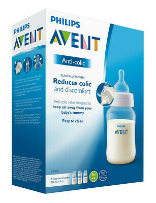 Avent Classic Anti-Colic Feeding Bottle 260Ml 3 Pack