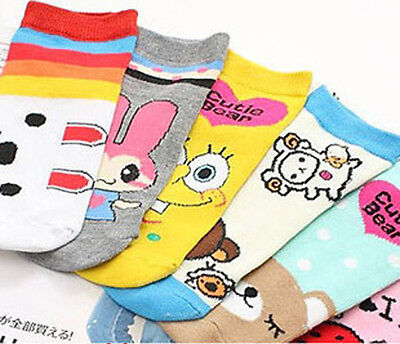 1 Paire New Lady Fille Lovely Fashion Cartoon Chaussettes navires Sox Bas