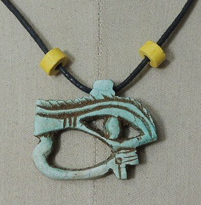 Egypt Египет Pharaoh  Eye of Horus Necklace/Collar,Hand Carved Stone with Beads