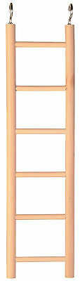 Wooden Ladder for Birds Hamsters Mice Gerbils Bird Toy Hamster Toy 6 Rung 28cm