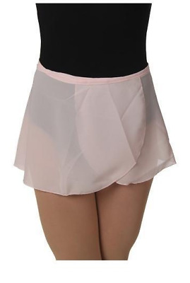 Women's BLOCH Black Pink Professional Wrap Dance Skirt size XS/S and M/L