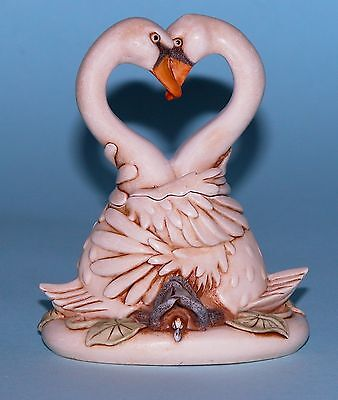"Harmony Kingdom box TJSW-1 ""Hearts Desire"" fixed ed. 2004 NIB swans heart pose"