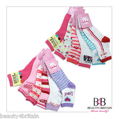 30 Pairs Girl Socks Cotton Rich 95% 8-12 Years Many Different Designs Wholesale