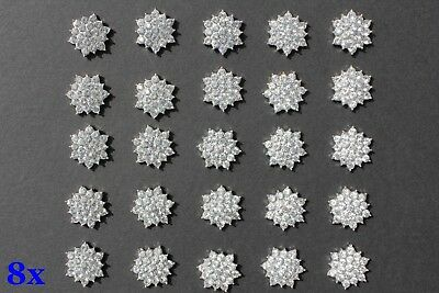 Wholesale 8x Sparkling Rhinestone Buttons Diamante Embellishment DIY Craft 16mm