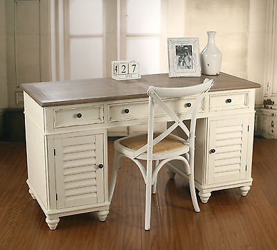 French Provincial Desk & Chair Combo Antique 'Plantation' Style Work Station NEW