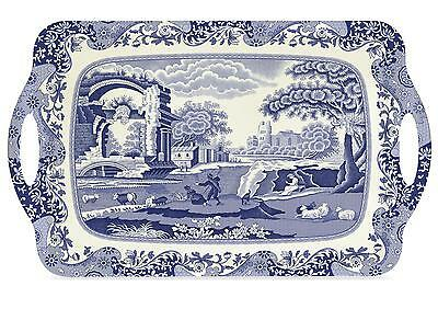 Pimpernel Blue Italian Large Serving Tray with Handles Melamine 48x29.5cm New