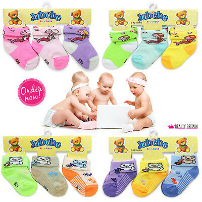 12 PAIRS BABY SOCKS (0-12 Months) COTTON DIFFERENT COLOURS WHOLESALE UK