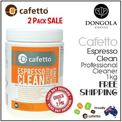 2PK CAFETTO 1KG ESPRESSO CLEAN Coffee Machine Cleaner Professional Use Cleaning