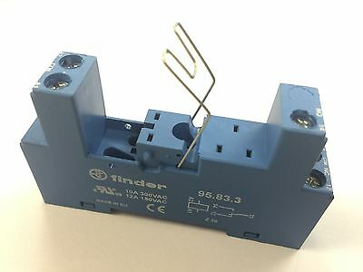 1 x 95.83.3 Finder Relay Base Socket Single Pole C/O Suitable 40 Series Relay