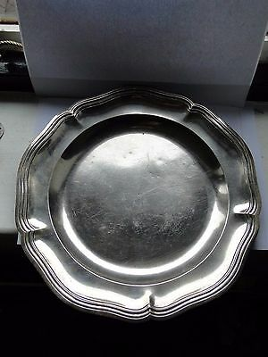 Sterling Silver Large Antique Plate, Portugal Circa 1600-1650, Marked Fully