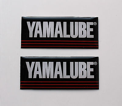YAMALUBE Stickers/Decals 40mm x 16mm HIGH GLOSS GEL FINISH motorcycle/motorsport