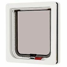 PET-558200 Pet Mate Lockable Cat Flap White