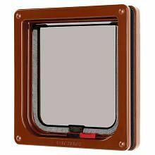 PET-558196 Pet Mate Lockable Cat Flap Brown