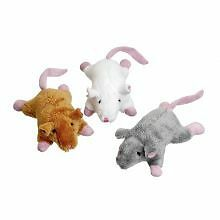 PET-589759 Karlie Plush Mice Brown/Grey/White (20g)
