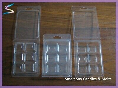 Clamshell Melt Moulds Containers Soy Wax Tart - Candle Making Supplies 50 Pack
