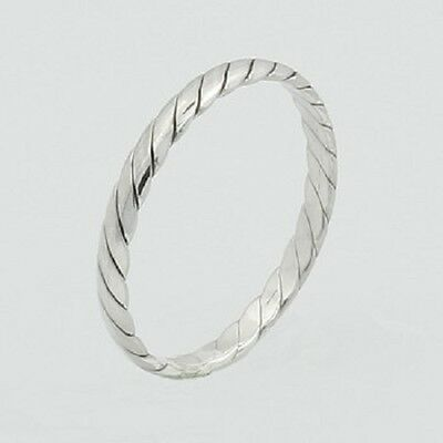 Midi silver ring knuckle ring 925 sterling twisted 2.5mm wide size 3us 4us 5us