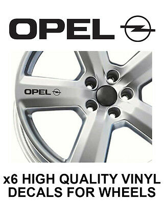 OPEL ALLOY WHEEL STICKERS Graphics X6 VAUXHALL