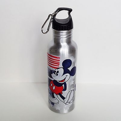 Disney - Mickey Mouse - American Mickey Aluminum Water Bottle - Backpack Clip